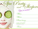 Free Printable Spa Birthday Invitations Invitations for Sleepover Party