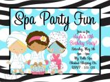 Free Printable Spa Birthday Invitations Printable Spa Party Invitations Home Party Ideas