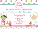 Free Printable Spa Party Invitations Templates Free Printable Spa Birthday Party Invitations Pool