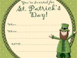 Free Printable St Patrick S Day Birthday Invitations Free Printable Party Invitations Free St Patrick S Day