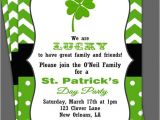 Free Printable St Patrick S Day Birthday Invitations St Patrick S Day Invitation Printable or Printed with