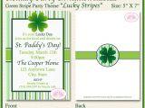 Free Printable St Patrick S Day Birthday Invitations St Patrick S Day Party Invitation Green Shamrock Irish