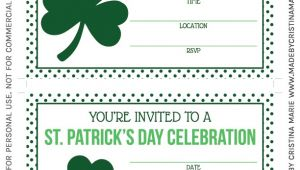 Free Printable St Patrick S Day Birthday Invitations St Patrick S Day Party Printables Free