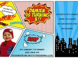 Free Printable Superhero Birthday Invitation Templates 30 Superhero Birthday Invitation Templates Psd Ai