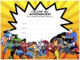 Free Printable Superhero Birthday Invitation Templates Superhero Printables