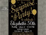 Free Printable Surprise Birthday Party Invitations Templates Surprise Party Invitations Printable Black Gold Surprise