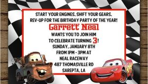Free Printable tow Mater Birthday Invitations Customized Birthday Invitation Disney Cars Lightening