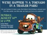 Free Printable tow Mater Birthday Invitations tow Mater Birthday Invitation 1st Birthday Ideas