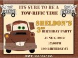Free Printable tow Mater Birthday Invitations tow Mater Birthday Invitation Printable by