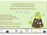 Free Printable Turtle Baby Shower Invitations Frog Turtle Baby Shower Invitation Printable by Little