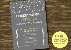 Free Printable Twinkle Twinkle Little Star Baby Shower Invitations Twinkle Twinkle Little Star Baby Shower Invitation by