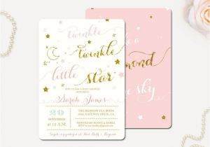 Free Printable Twinkle Twinkle Little Star Baby Shower Invitations Twinkle Twinkle Little Star Baby Shower Invitation Star
