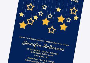 Free Printable Twinkle Twinkle Little Star Baby Shower Invitations Twinkle Twinkle Little Star Baby Shower Invitations