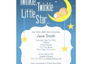 "Free Printable Twinkle Twinkle Little Star Baby Shower Invitations Twinkle Twinkle Little Star Baby Shower Invite 5"" X 7"