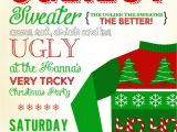 Free Printable Ugly Christmas Sweater Party Invitations Christmas In July Invitations Templates