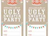 Free Printable Ugly Christmas Sweater Party Invitations How to Host An Ugly Sweater Party