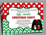 Free Printable Ugly Sweater Party Invitations Items Similar to Christmas Ugly Sweater Party Invitation