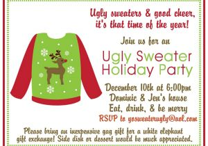 Free Printable Ugly Sweater Party Invitations the Gallery for Gt Ugly Sweater Party Invitation Template