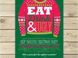 Free Printable Ugly Sweater Party Invitations Ugly Christmas Sweater Invitation Printable Ugly