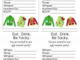 Free Printable Ugly Sweater Party Invitations Ugly Sweater Party Free Printables the Country Chic Cottage
