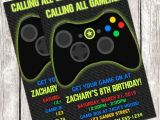 Free Printable Video Game Party Invitations Gamer Invitation Video Game Birthday Party Diy Printable
