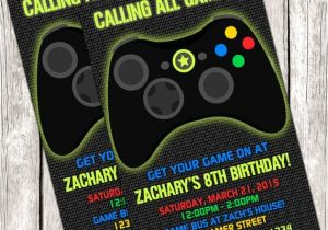 photo relating to Free Printable Video Game Party Invitations called Free of charge Printable Video clip Match Celebration Invites Do-it-yourself Match Upon
