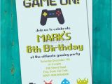 Free Printable Video Game Party Invitations Printable Video Game Birthday Invitation 8 Bit Invitation