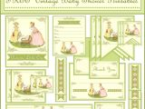 Free Printable Vintage Baby Shower Invitations Free Vintage Baby Shower Printables From Printabelle