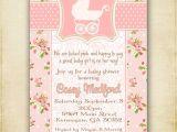 Free Printable Vintage Baby Shower Invitations Pink Shabby Chic Vintage Baby Carriage Baby Shower