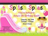 Free Printable Water Slide Party Invitations 5 Best Images Of Water Slide Party Invitation Templates