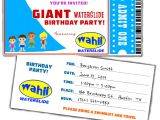 Free Printable Water Slide Party Invitations Free Water Slide Birthday Party Invitations Giant Slip N