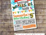 Free Printable Water Slide Party Invitations Items Similar to Waterslide Birthday Party Invitation