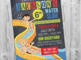 Free Printable Water Slide Party Invitations Water Slide Party Invitation Printable Birthday Invite
