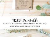 Free Printable Wedding Invitation Templates Free Printable Wedding Invitation Template