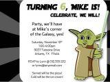 Free Printable Yoda Birthday Invitations Yoda Inspired Birthday Party Invitation by Freshlycutcards