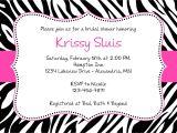 Free Printable Zebra Print Baby Shower Invitations Free Pink Zebra Baby Shower Invitation Template Tag