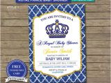 Free Royal Prince Baby Shower Invitation Template Instant Download Royal Prince Baby Shower Invitation with