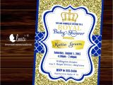 Free Royal Prince Baby Shower Invitation Template Royal Baby Shower Invitation Little Prince Baby Showerblue