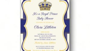 Free Royal Prince Baby Shower Invitation Template Royal Prince Baby Shower Invitations Little Prince Baby