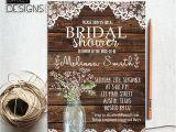 Free Rustic Bridal Shower Invitation Templates Rustic Bridal Shower Invitation Printable Baby S Breath