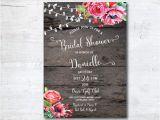 Free Rustic Bridal Shower Invitation Templates Wedding Shower Invitation Templates