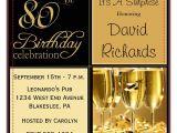 Free Samples Of Party Invitations 15 Sample 80th Birthday Invitations Templates Ideas