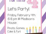 Free Samples Of Party Invitations Free Printable Birthday Invitation Templates