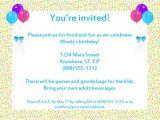 Free Samples Of Party Invitations Sample Birthday Invitation Templates Free Premium