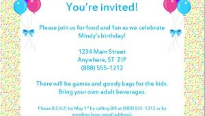 Free Samples Of Party Invitations Sample Birthday Invitation Templates Free Premium