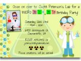 Free Science Birthday Party Invitation Templates Free Printable Mad Science Birthday Party Invitations