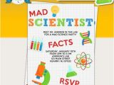 Free Science Birthday Party Invitation Templates Mad Scientist Birthday Party Printable Invitations Mad