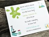 Free Science Birthday Party Invitation Templates Science Birthday Party Invitations