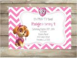 Free Skye Paw Patrol Birthday Invitations Paw Patrol Birthday Party Invitation Skye Printable