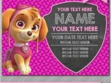 Free Skye Paw Patrol Birthday Invitations Paw Patrol Invitation Instant Download Skye by